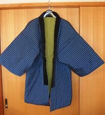 "JAPANESE VINTAGE MEN'S COAT JACKET ""HANTEN"" HAND MADE IN JAPAN KIMONO TOP C"