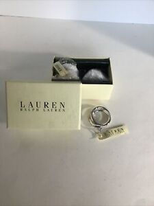 RALPH LAUREN Vows Set of 4 Napkin Rings Silver Plate ~ NEW in BOX- Gorgeous!