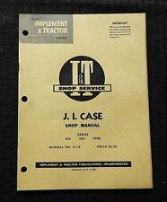1959 J I CASE 500 600 900B 930 940 TRACTOR I&T SERVICE MANUAL NICE