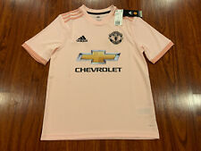2018-19 Adidas Manchester United Youth Soccer Away Jersey Large L Boys