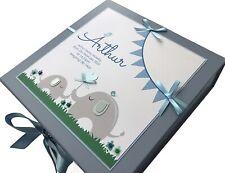 Personalised Baby Keepsake Box, LARGE Memory Box Christening New Baby Gift