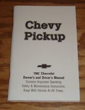 1982 Chevrolet Pickup Owners Operators Manual 82 Chevy