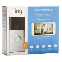 Ring Wi-Fi Enabled Video Doorbell - Satin Nickel (Silver)