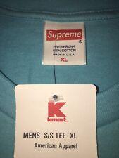 Blank Supreme Baby Blue Tee XL Sample BOGO KMART Lv Louis Box Logo Short Sleeve