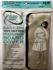"""Vintage 54"""" cotton Teflon coating Ironing Board Cover by Charter Products"""