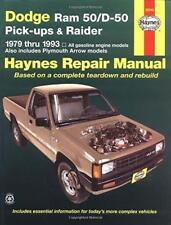 Haynes Dodge Ram 50/D D-50 D50 Pickup (79-93) Manual de los propietarios Manual De Servicio