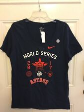 Nike Women s 2017 World Series Logo Houston Astros Shirt MLB Large Navy 71a234001