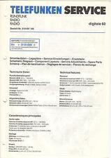 Telefunken Service Anleitung Manual Radio digitale 60 B490