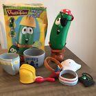 2000 Veggie Tales Dress-up Mix Up Larry The Cucumber Mr. Potato Head Toy Lot