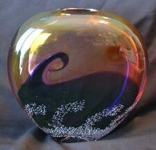 Gorgeous 2003 Buzz Blodgett Sunset Wave Art Glass Vase Series Wav2-24 1ofAKind
