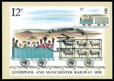 GB UK MK 1980 EISENBAHN RAILWAY LIVERPOOL MANCHESTER SCHAF MAXIKARTE MC /m1050