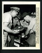 Tony Lema plane crash Illinois State Police Lansing 1966 Press Photo Golf