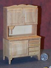 Dollhouse Miniature Kitchen Hutch Flour Bin Oak 1:12 scale Dollys Gallery N57