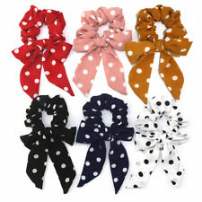 Dot Scrunchies Streamers Elastic Bow Knotted Hair Ring Girls Ponytail Hair Tie F