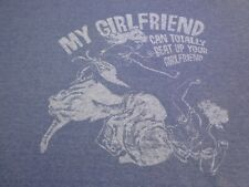 My Girfriend can totally beat up yours  Astro   T Shirt Size Large   S8