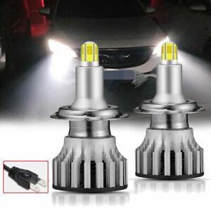 2x H7 LED Scheinwerfer Birne Fern Abblendlicht 6000K Weiß Lampen VS Xenon DHL