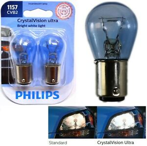 Philips Crystal Vision Ultra Light 1157 27/8W Two Bulbs Stop Brake Replacement