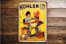 Kohler Sewing Machine VINTAGE ENAMEL METAL TIN SIGN WALL PLAQUE 149174