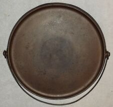 RARE GRISWOLD ERIE LOGO CAST IRON BAILED GRIDDLE NO 12 P/N 741
