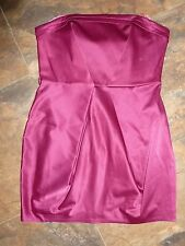 River Island Dress Size 14 BNWT £45 Deep Pink Purple Satin Like Wedding Party