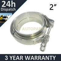 """V-BAND CLAMP + FLANGES COMPLETE STAINLESS STEEL EXHAUST TURBO HOSE 2"""" 51mm"""
