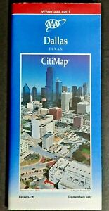 2001/02 Dallas TX CitiMap foldout road map by AAA pre-owned