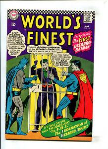 WORLD'S FINEST #156 - FIRST APPEARANCE OF BIZARRO BATMAN (8.0) 1966