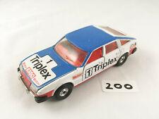 VINTAGE CORGI TOYS # 340 ROVER 3500 TRIPLEX TOURING RACING CAR DIECAST 1981