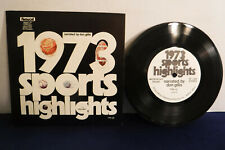 "Don Gillis, 1973 Sports Highlights, Fleetwood Records FMS 33, 7"" 33 RPM"
