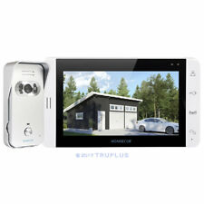 HOMSECUR 7'' Colour LCD Video Door Entry Intercom 110° WideView HD Silver Camera