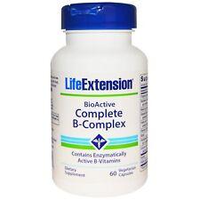 LIFE EXTENSION BIOACTIVE COMPLETE B-COMPLEX SUPPLEMENT VITAMIN 60 VEGGIECAPS
