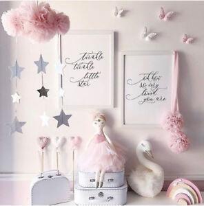 Dreamy Mesh Cloud Star Pendant Baby Nursery Kids Room Hanging Decoration