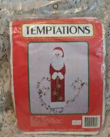 """CHRISTMAS TRIPTYCH Stained Glass Plastic Canvas Kit 10/"""" x 18/""""  Design Works HTF"""