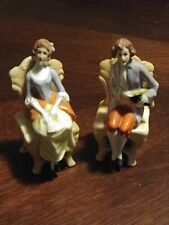 German Porcelain Colonial Courting Couple Pair of Figurines