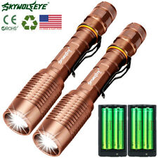 Super Bright 10000Lm Led Torch Flashlight 18650 Usb Rechargeable + Battery