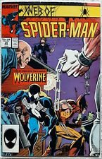 New listing Web of Spiderman #29 (1987) *Lot R* Wolverine Crossover ! Symbiote Suit ! Key !