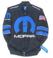 Size 3XL JH Design Mopar Generic Racing Embroidered Cotton Jacket Black  XXXL
