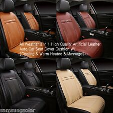 All Weather 3 In 1 Auto Car Seat Cover Cushion / Cooling & Warm Heated & Massage