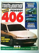 >L'AUTO-JOURNAL du 02/1992; Peugeot 406/ Renault Safrane/ Alfa 155/ Paris le cap