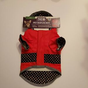 Heart to Tail Reflective Raincoat with Hood for Dogs XS New Red and Blue
