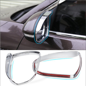 For Hyundai Tucson 2016-2021 Chrome Rearview Mirror Rain Eyebrow Cover Trim