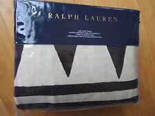 RALPH LAUREN Black Palms KING DUVET COVER Black Cream MONTAUK GEOMETRIC