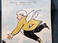 Caricature Dessin Fallières quitte Paris Politique Frederic Cazassus 1913