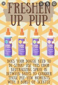 Scentsy Pet Deodorizing Spray Freshen Up Pup OATMEAL & ALOE   NEW Green