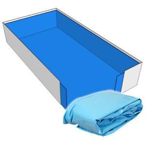 Poolfolie Rechteck Pool 800 x 400 x 150 cm - 0,8 mm blau mit Keilbiese