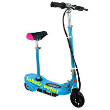 New Kids Electric E Scooter 120W Ride On Toy Rechargeable Removable Seat Skyblue