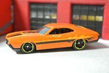 Hot Wheels '72 Gran Torino Sport - Orange w/ Flames - Loose 1:64