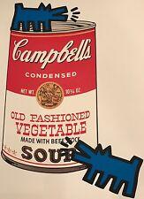 Campbell's Soup Can print by Raw Ltd Ed Pop Art Brainwash Obey Warhol Haring