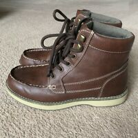 Magellan Outdoor Mens Casual Lace Up Leather Boots Size 9D Brown