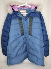 HUNTER Original Women's ASTRO Faux Fur Parka Winter Jacket Coat SMALL